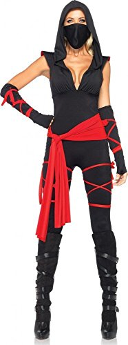 Sexy Kostüm Ninja - Sexy Kostüm BLACK NINJA Gr. S/M - 7-teilig