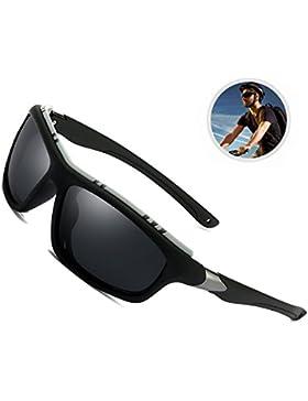 Gafas de sol al aire libre polarizadas para hombres Mujeres Deportes Bloqueo UV, Lentes sin reflejos para la conducción...