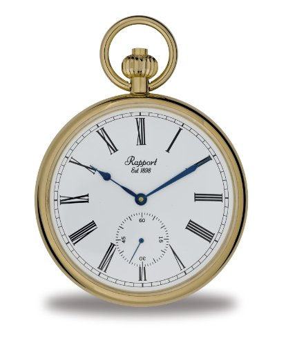 Rapport Oxford Mechanical Open Faced Taschenuhr. Vergoldetes Metall PW94