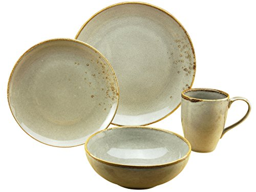 CreaTable 19985, Serie Nature Collection Skandinavien, Geschirrset Single Set GREY 4 teilig