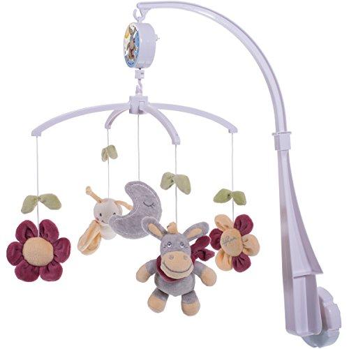 Musik Mobile Esel/Blumen, 4 Halter, Figuren waschbar, ab 0 Monate: Musikmobile Baby Mobile Musik Spieluhr Baby Spielzeug Einschlafhilfe