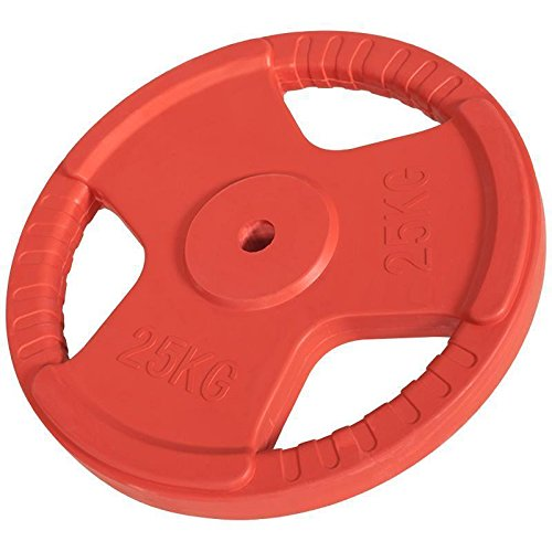 Hantelscheiben Gripper Gummi 1,25kg-25kg, 30/31mm (25 KG (Rot))
