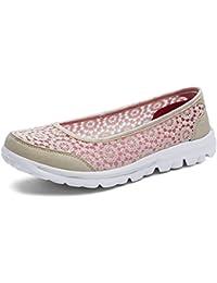 d056f97660d6 JRenok Damen Netz Schuhe Atmungsaktive Sneakers Rutschfeste Sneaker Schuhe  Bequeme laufstiefel