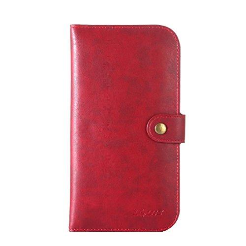Hülle für iPhone 7 plus , Schutzhülle Für iPhone7 / 6 & iPhone7 Plus / 6 Plus Crystal Texture Zwei-Shipper Lagerung Horizontale Flip Leder Tasche mit Card Slots & Wallet ,hülle für iPhone 7 plus , cas Red