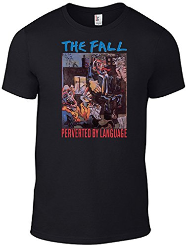 The Fall / Mark E Smith T-Shirts Perverted by Language CD Image Band Tee Black