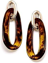 6df3aa8a2b7d Pendientes Pertegaz Colección Carey Largos 67mm. Mujer Dos Eslabones Dorado  Carey