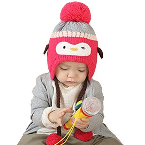 [Baby Mütze]Kidslove Baby Mütze Winter Kindermütze Pinguin Strickmütze Wintermütze Schnee Hut für Baby Mädchen Jungen