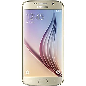 Samsung Galaxy S6 Smartphone Débloqué 4G (5.1 Pouces - 32 Go - Android 5.0 Lollipop) Or (Import Allemagne)