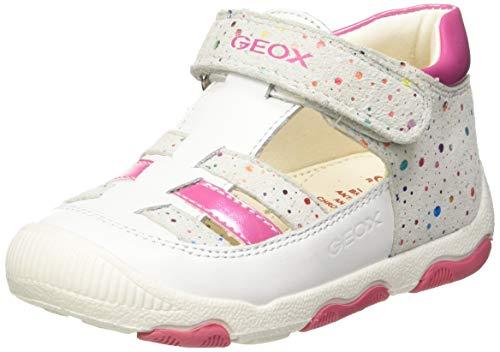 Geox Baby Mädchen B New BALU' Girl A Sneaker, Weiß (White/Multicolor C0653), 20 EU Baby-sneaker