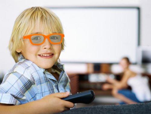 3D Brille für Kinder Universale passive 3D-Kinderbrille für Cinema 3D LG, Easy 3D Philips, Panasonic, Toshiba, Grundig und RealD Kinos in orange NEU von der Marke PRECORN