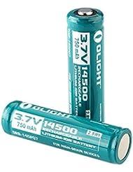 Olight® 18650 14500 Akkus Lithium Ionen wiederaufladbare Batterien und OMNI-DOK Universal Akku-Ladegerät optional