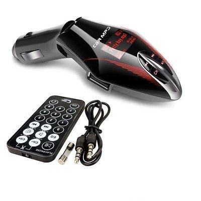 Generic wireless lettore MP3trasmettitore FM, porta USB2.0ad alta velocità. Schermo