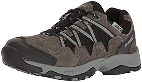 Hi-Tec Men's Dexter Low Waterproof Trail Runner, Gull Grey/Black/Goblin Blue, 11 D US