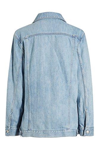 next Femme Petite Taille Veste Oversize En Denim Bleu
