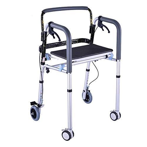 Andador para Ancianos Walker, Floding Walker Bariatric Servicio pesado con 4 ruedas...