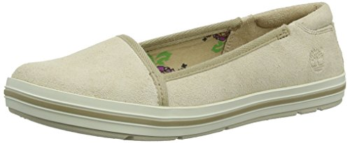Timberland, Ek Casc By Lth So, Ballerine,Donna, Beige (Off White Suede/Rubber Rand), 37.5