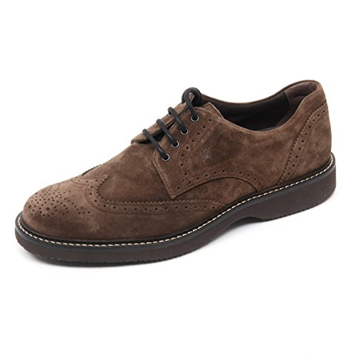 B8456 scarpa inglese uomo HOGAN H217 ROUTE DERBY scarpe marrone shoe man Marrone