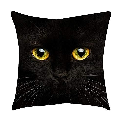 VJGOAL Moda Lindo Negro Ojos de Gato impresión en casa Decorativo Suave...