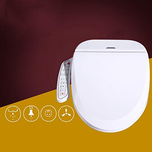 GZF Intelligenter Bidet-Toiletten-Sitz verlängerte Weiß, LED-Seitenverkleidung, Edelstahl-Düse, hintere Wäsche, intelligenter Toilettensitz