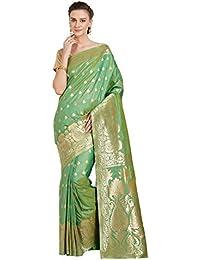 Viva N Diva Women's Kanchipuram Sarees Art Silk Saree With Blouse Material Sari,Free Size