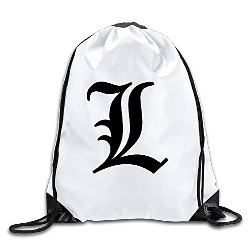 HLKPE Anime Death Note Primary Logo Popular String Backpacks