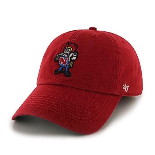 Hat Nebraska (47 Brand NCAA Nebraska Cornhuskers Franchise ausgestattet Hat, Rot 2, Youth M)