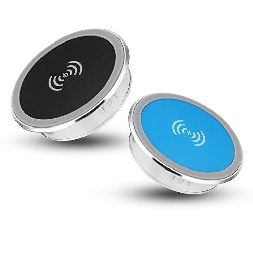 Tutoy Qi Drahtloses Schreibtisch-Ladegerät-Ladedock Für Iphone X / Iphone 8 Plus / Iphone 8 - Blau