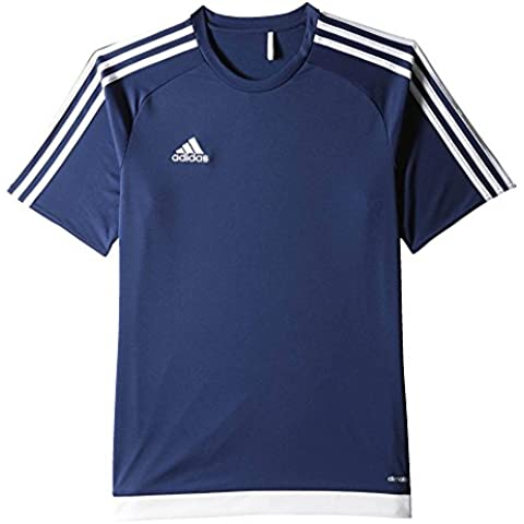 adidas Estro 15 JSY - Camiseta para hombre, color azul oscuro / blanco, talla S