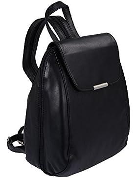 Rucksack LOUANA in Echt-Leder, schwarz, 23x29x14cm