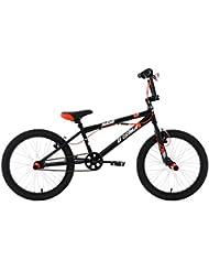 """KS Cycling Hedonic BMX freestyle Noir/Rouge 20"""""""
