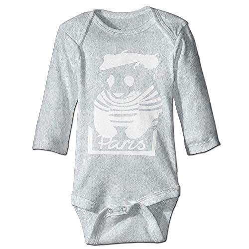 MSGDF Unisex Toddler Bodysuits Wear A Hat of Panda Baby Babysuit Long Sleeve Jumpsuit Sunsuit Outfit Ash (Panda Red Skeleton)