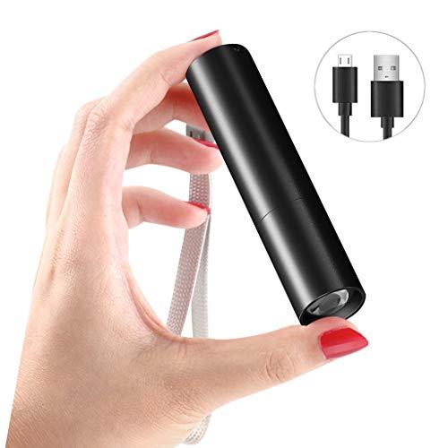 DL LED Taschenlampe,Super Helle 680 Lumen Wasserdicht Taschenlampen,3 Modis Einstellbar mit Zoom Funktion Flashlight,mit USB-Ladekabel fr Camping/Radfahren/Klettern/Outdoor-Aktivitten
