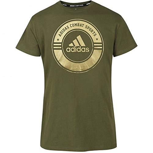 adidas T-Shirt Combat Sports, Maglietta Unisex, Blu/Giallo, XXL