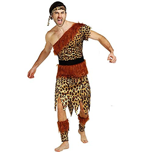 Zubehör Kostüm Flintstones - lovelegis PRI03 - Primitiver Höhlenmensch Costume - Primaten - Höhlenbewohner - Flintstones - Verkleidung Karneval Halloween Cosplay Zubehör - Einheitsgröße - Erwachsene