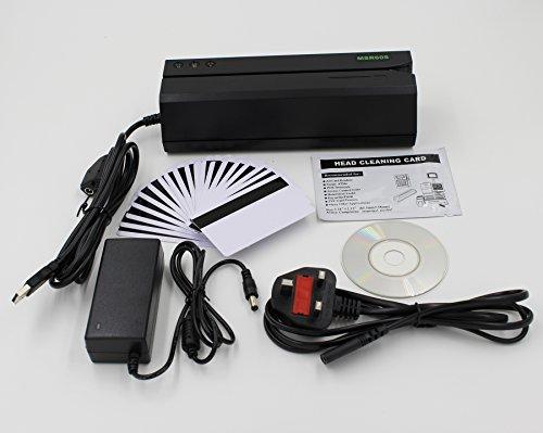Etekjoy MSR605 Lecteur-encodeur de cartes à bande magnétique, 3 pistes