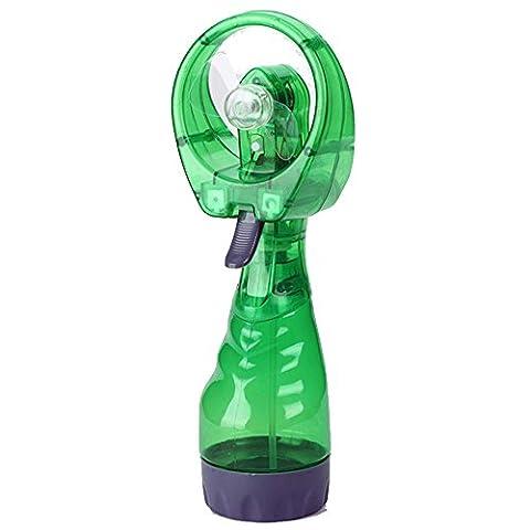 KEERADS nouveau portable casque de pulvérisation d'eau main fan de refroidissement cool brume travel beach (Green)