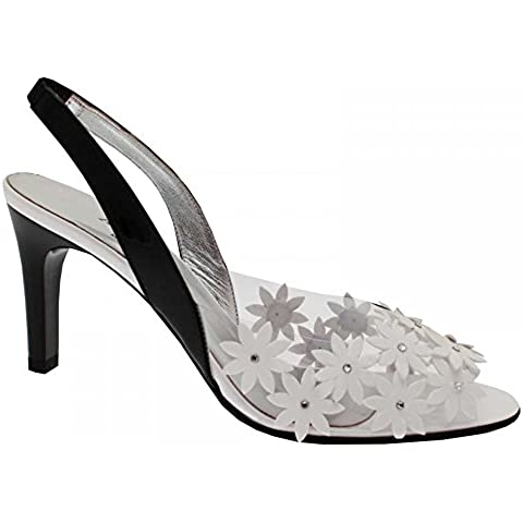 Azuree Daisy Design High Heel Sling Back Shoe