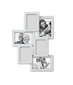 Brandani portafoto cornice multiplo puzzle 6 foto bianco for Portafoto multiplo da tavolo