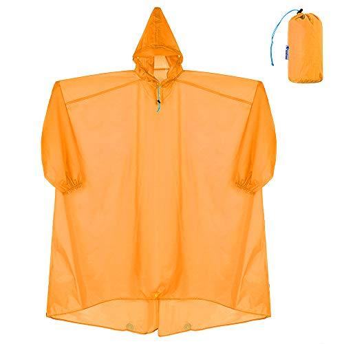 Lixada Coated Nylon Regenmantel Soft Regenmantel Wasserdicht mit Kapuze Regen Poncho Outdoor Regenjacke