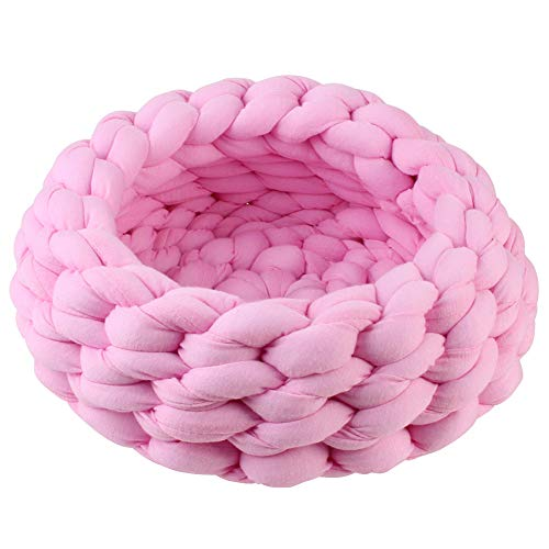 gfjhgkyu Round Shape,Braided,Breathable,Soft,Comfortable Haustier Hund Katze Dickes Seil -