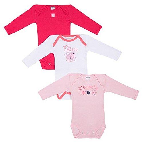 Absorba Underwear Ope N 1 des Calins, Body Bébé Fille, Rose (Dragée), 18-24 Mois (Taille Fabricant: 18M) - Lot de 3