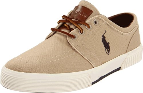 Men's Polo Ralph Lauren Faxon Baskets basses en toile Khaki Canvas
