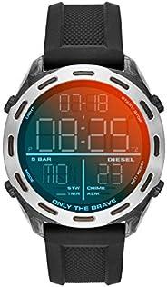 Diesel Mens Quartz Watch, Analog and Silicone- DZ1893