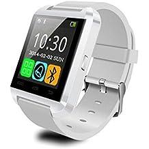 U8 - SmartWatch Bluetooth V3.0 (EDR, pantalla táctil, Android) Smartphone Samsung LG sistema Android IOS color Blanco