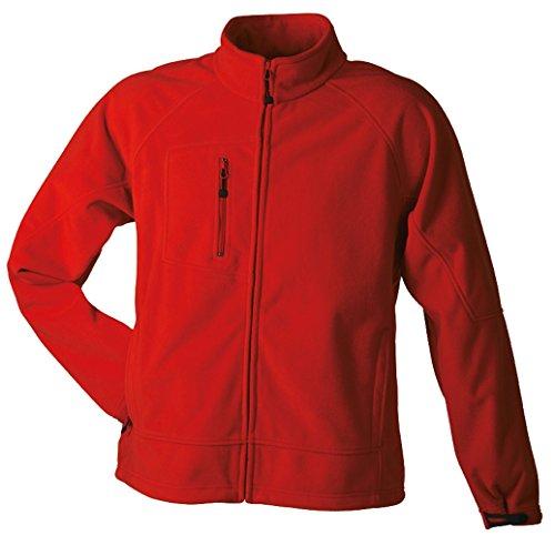 JN1006 Men's Bonded Fleece Jacket Funktionelle 3-lagige Fleecejacke red-carbon