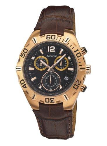 Accurist MS836BR - Reloj de cuarzo para hombres, color marrón
