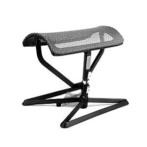 NSC Verstellbarer Fußhocker Pedal Footrest Mittagspause Hilfhocker Yoga Rest Zusammenklappbare Atmungsaktive Maschen Hocker,Silver