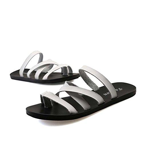 ZXCV Scarpe all'aperto Sandali Pantofole Uomini Scarpe da spiaggia Giovani per il tempo libero Pantofole Fresco Moda Tide Shoes Bianca