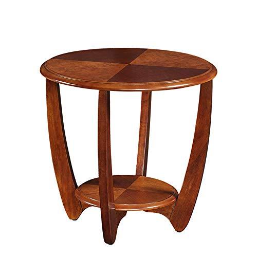 Home Beistelltische Nordic Massivholz Kreative Nachttisch Möbel Japanischen Stil Einfachen Holztisch Kleinen Teetisch Computer Ecktisch, BOSS LV, Walnussfarbe