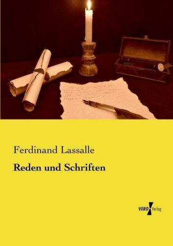 Reden Und Schriften por Ferdinand Lassalle